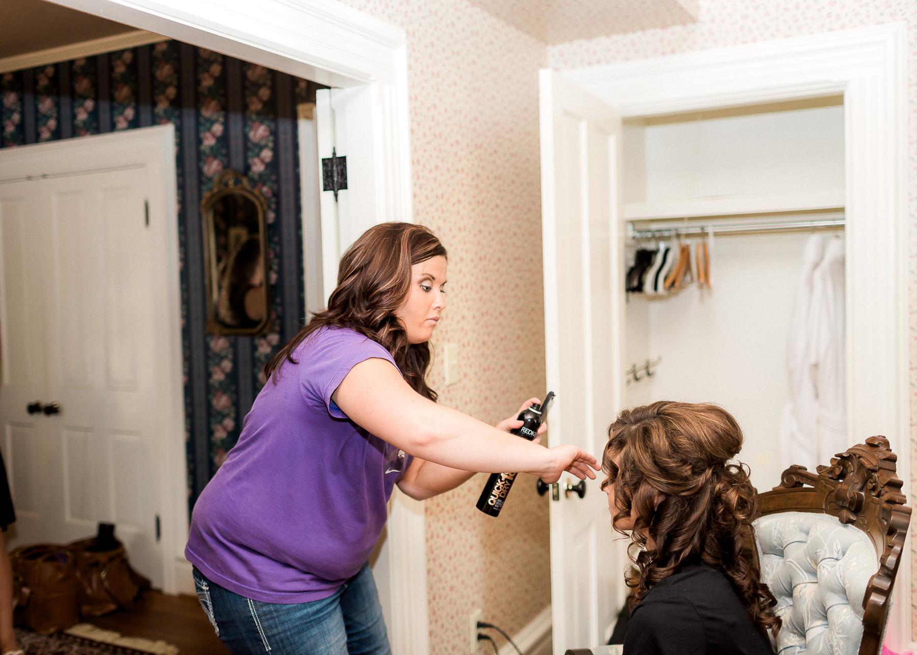 doing brides hair