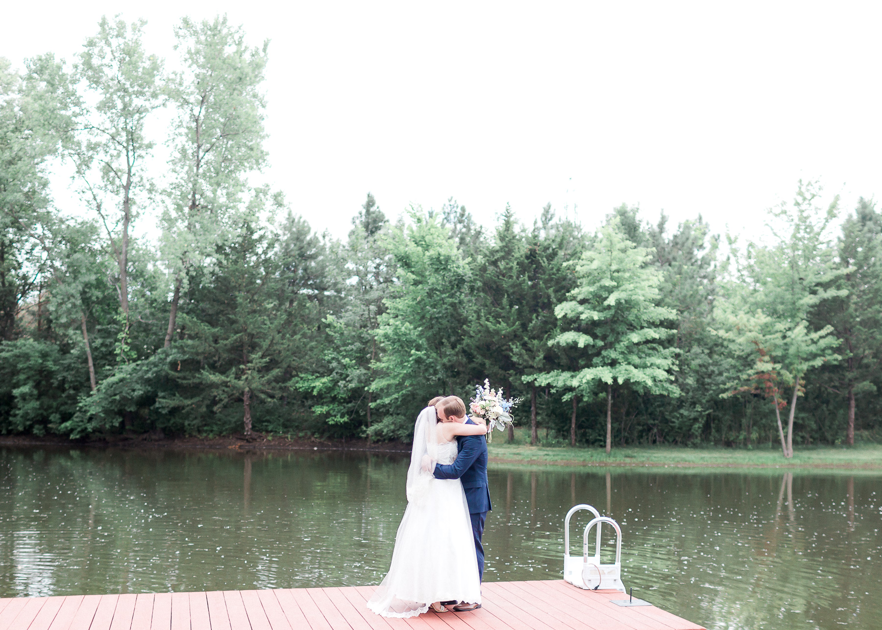 hugging on dock during first look