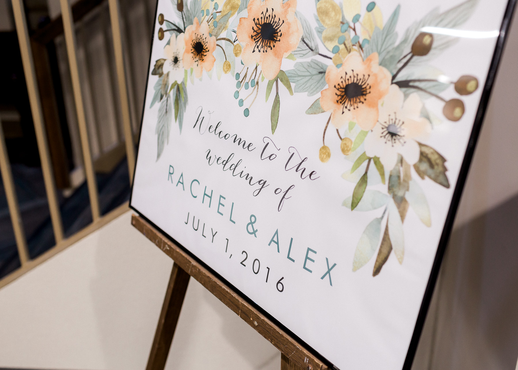 wedding entrance sign