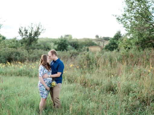 Rachel + Alex Maternity | Top of the World | Hays, KS Photographer.