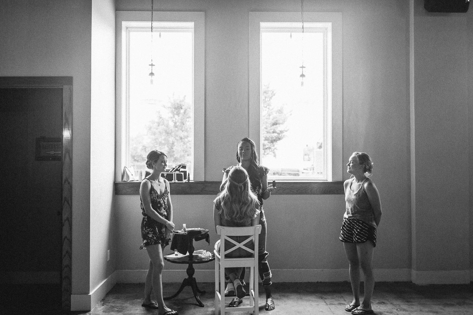 Girls prepping