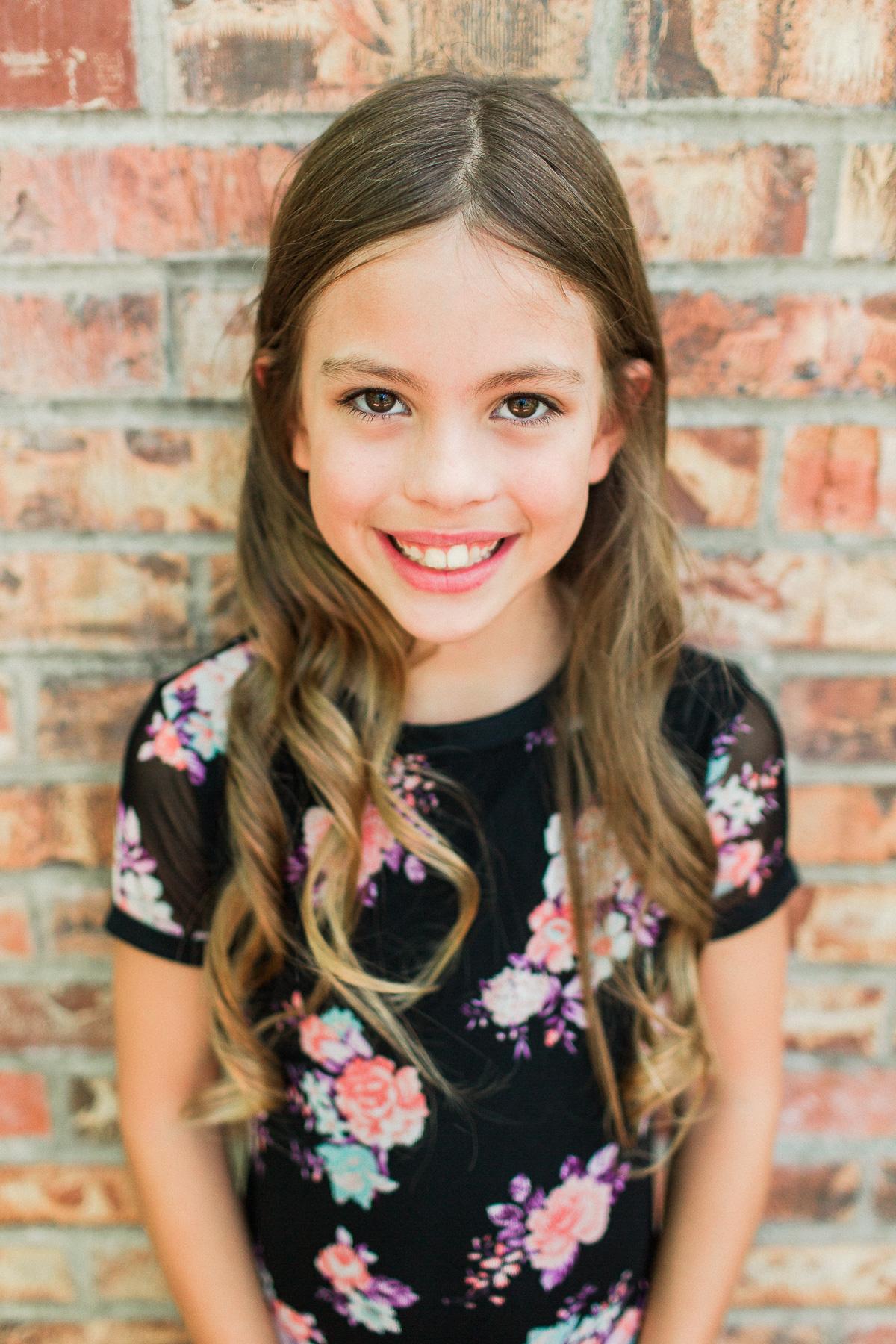 Homeschool daughter smiling